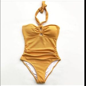 Cupshe yellow bubbly face one piece swimsuit